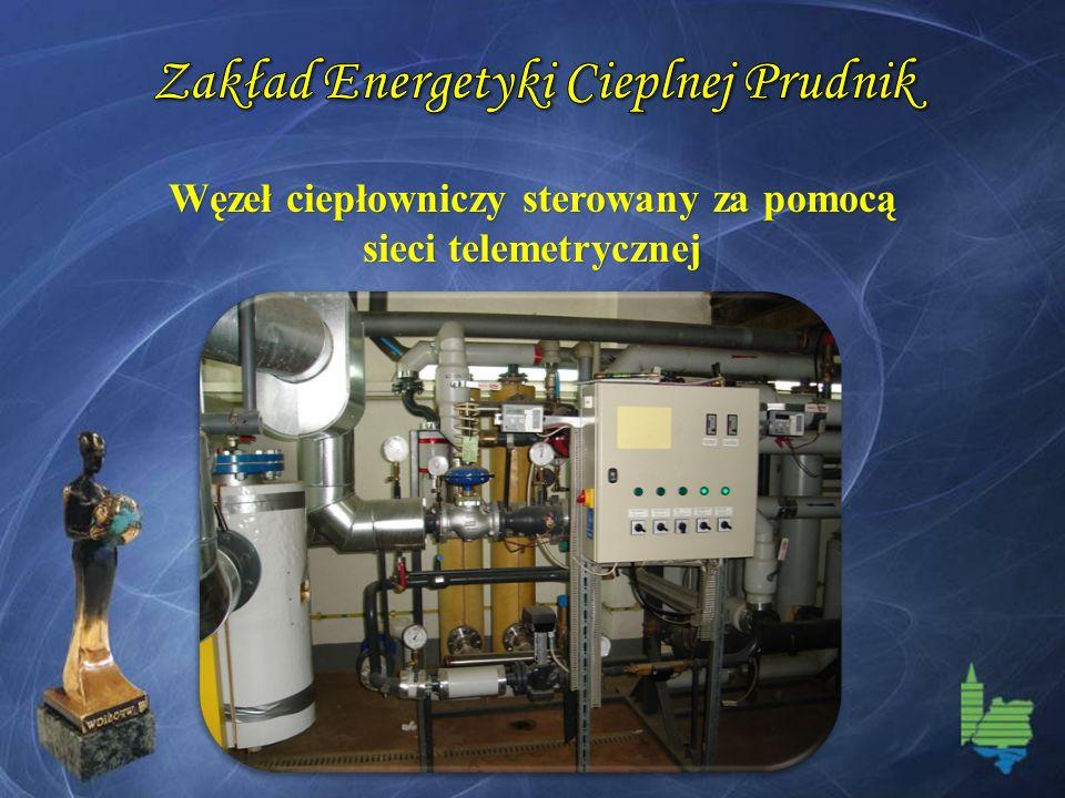 Węzeł ciepłowniczy sterowany za pomocą sieci telemetrycznej