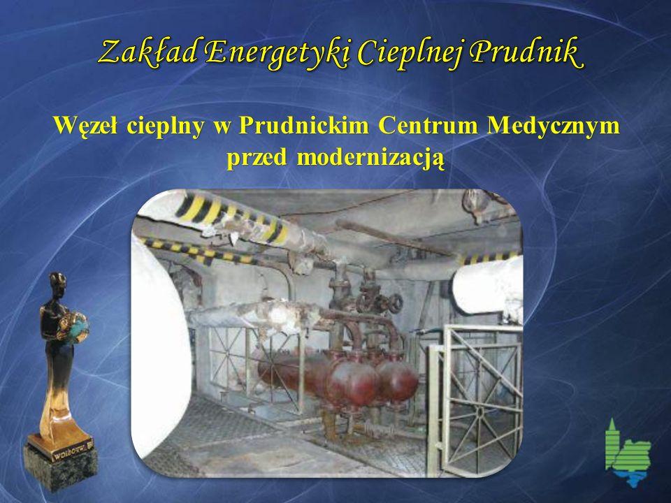 Węzeł cieplny w Prudnickim Centrum Medycznym przed modernizacją
