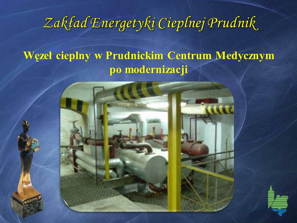 Węzeł cieplny w Prudnickim Centrum Medycznym po modernizacji
