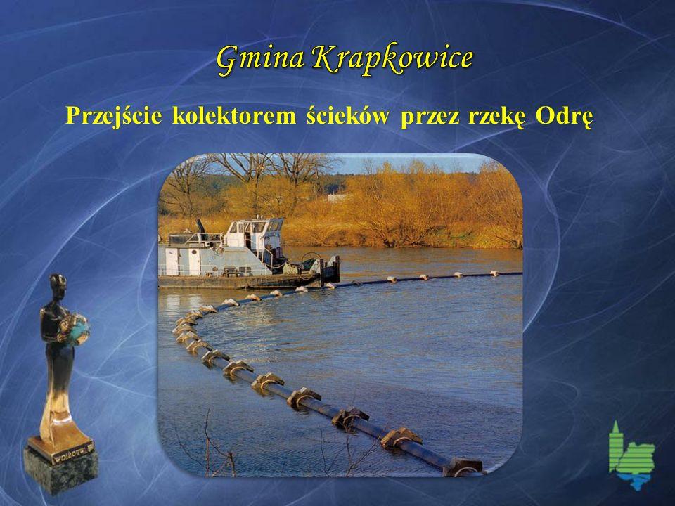 Przejście kolektorem ścieków przez rzekę Odrę