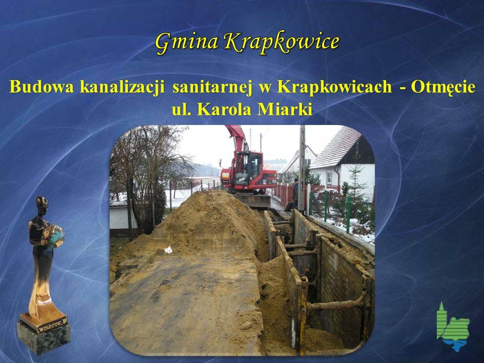Budowa kanalizacji sanitarnej w Krapkowicach - Otmęcie ul. Karola Miarki