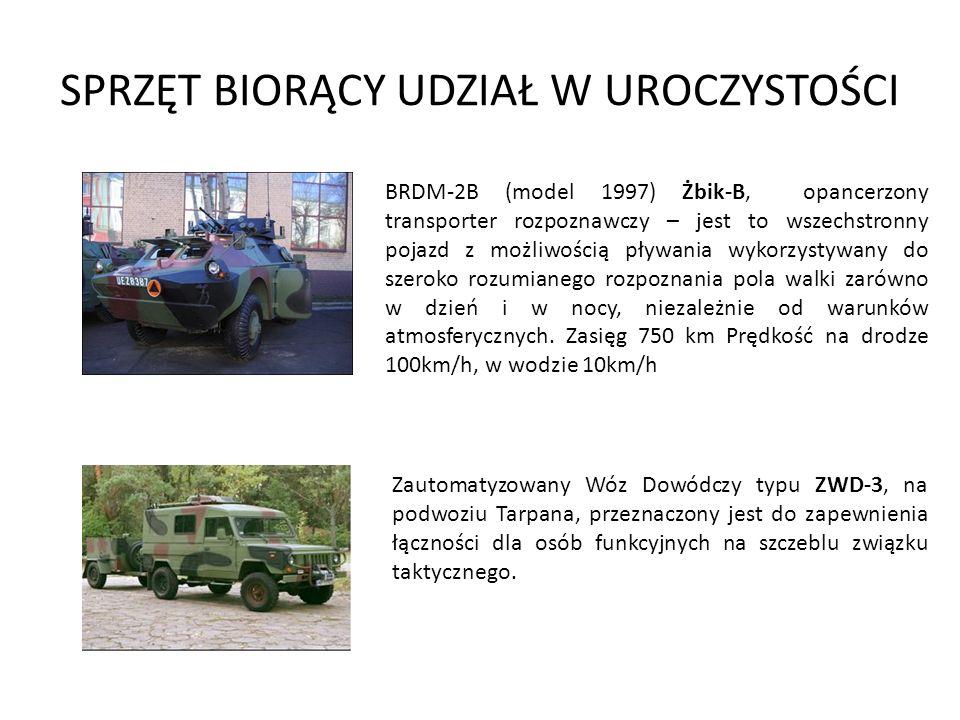 SPRZĘT BIORĄCY UDZIAŁ W UROCZYSTOŚCI 152mm AHS DANA Działo samobieżne Dana jest zbudowane na podwoziu ciągnika kołowego Tatra o napędzie na wszystkie koła w układzie 8x8.