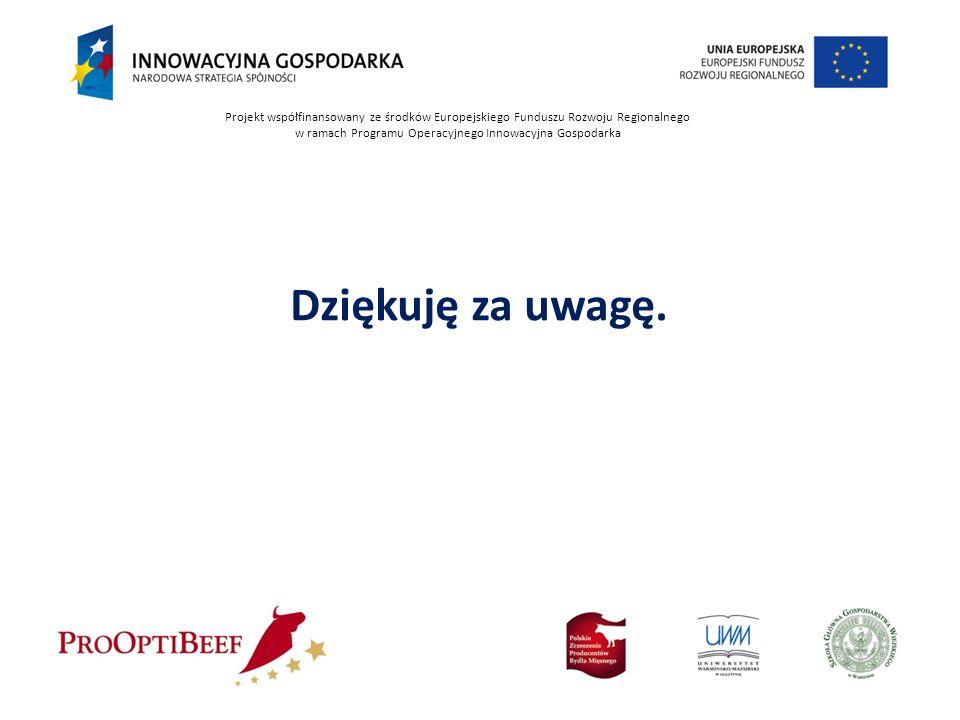 Projekt współfinansowany ze środków Europejskiego Funduszu Rozwoju Regionalnego w ramach Programu Operacyjnego Innowacyjna Gospodarka Dziękuję za uwag
