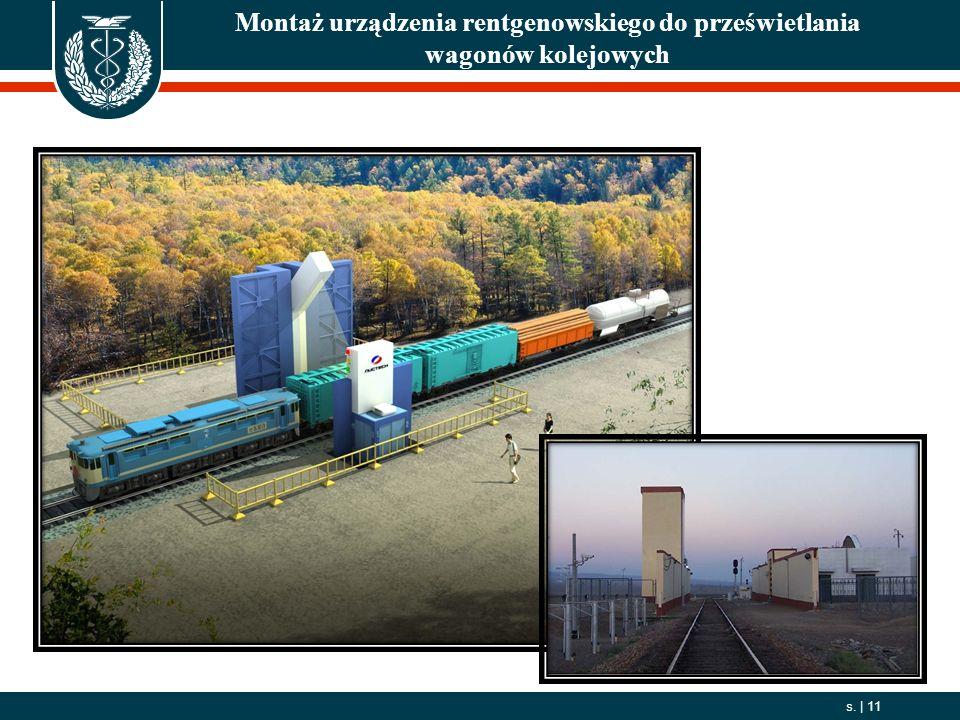 2006. 10. 01 s.   11 Montaż urządzenia rentgenowskiego do prześwietlania wagonów kolejowych