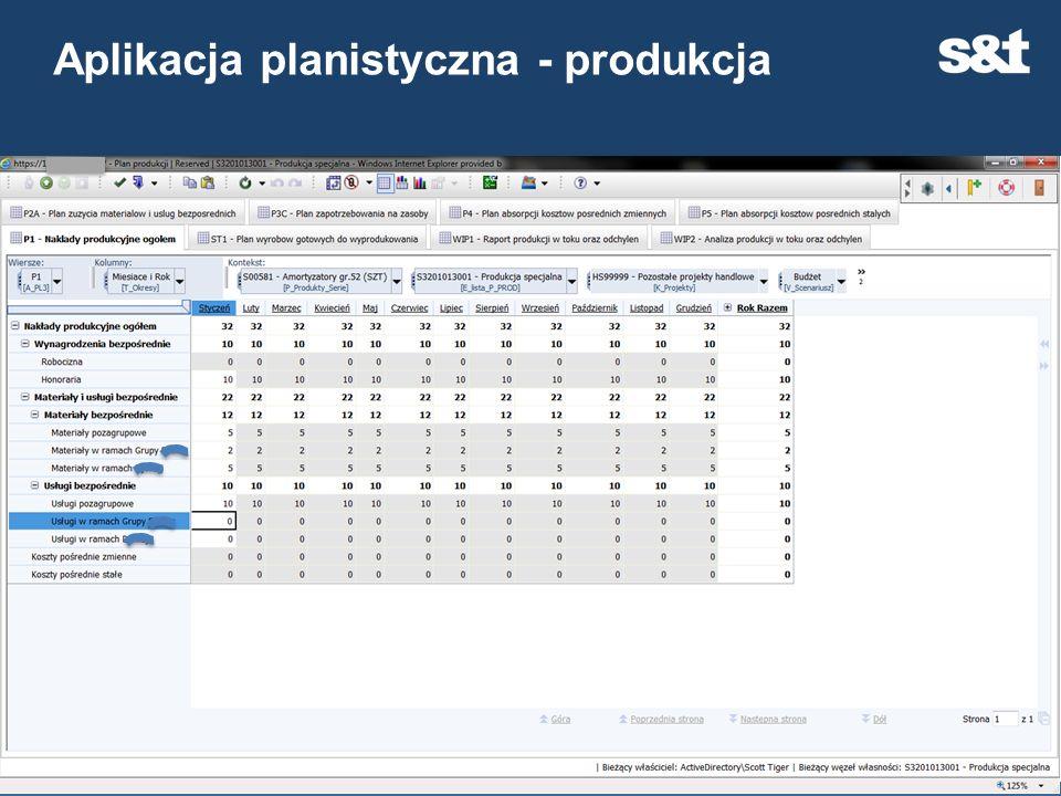Aplikacja planistyczna - produkcja 28