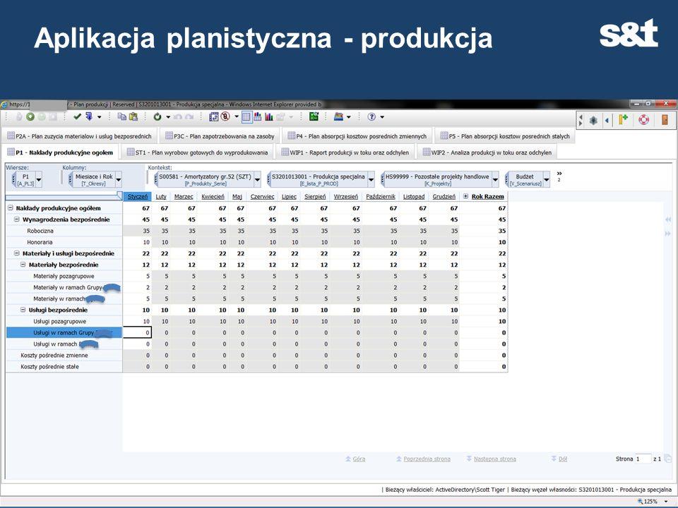 Aplikacja planistyczna - produkcja 30