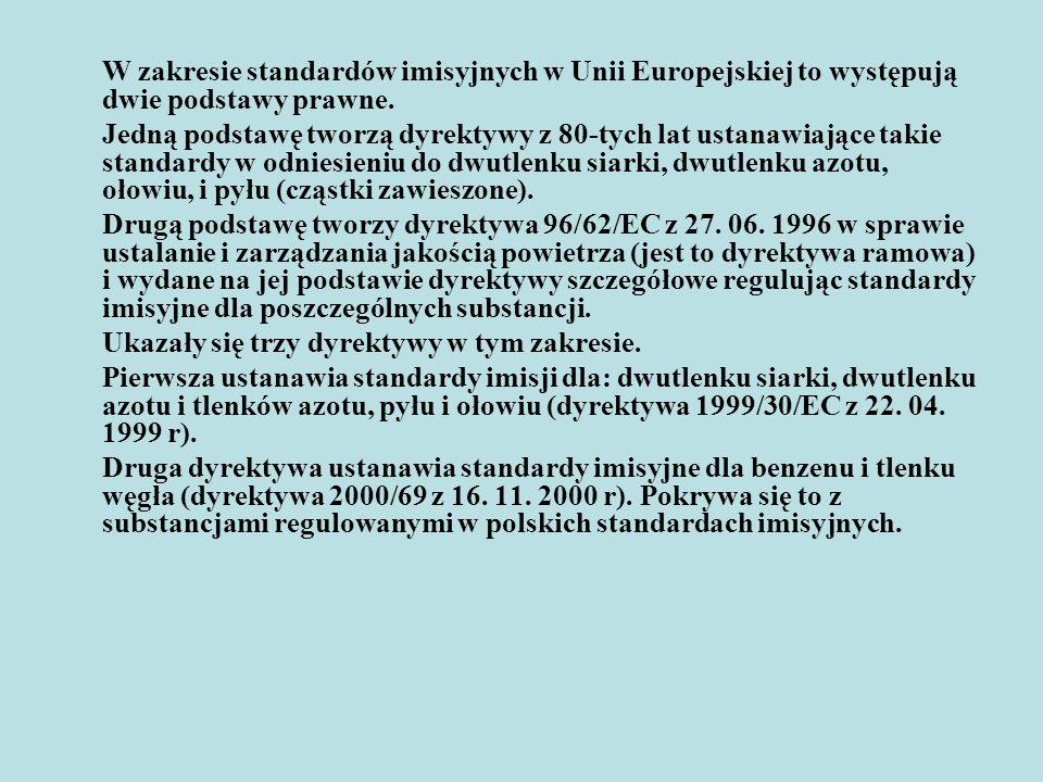 Uwarunkowania związane z implementacją dyrektywy Parlamentu Europejskiego i Rady Europy nr 2001/80/WE z 23 października 2001 r.