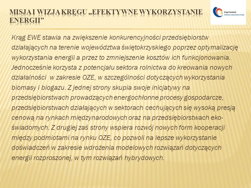 Krąg EWE stawia na zwiększenie konkurencyjności przedsiębiorstw działających na terenie województwa świętokrzyskiego poprzez optymalizację wykorzystan