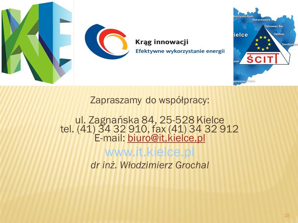 28 Zapraszamy do współpracy: ul. Zagnańska 84, 25-528 Kielce tel. (41) 34 32 910, fax (41) 34 32 912 E-mail: biuro@it.kielce.plbiuro@it.kielce.pl www.