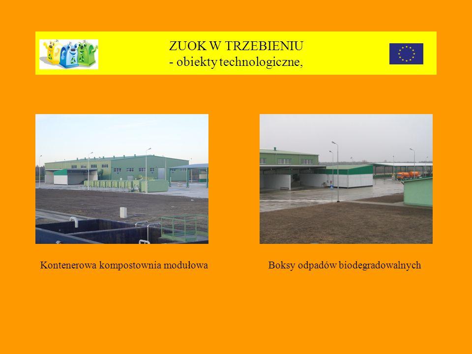 ZUOK W TRZEBIENIU - obiekty technologiczne, Kontenerowa kompostownia modułowaBoksy odpadów biodegradowalnych