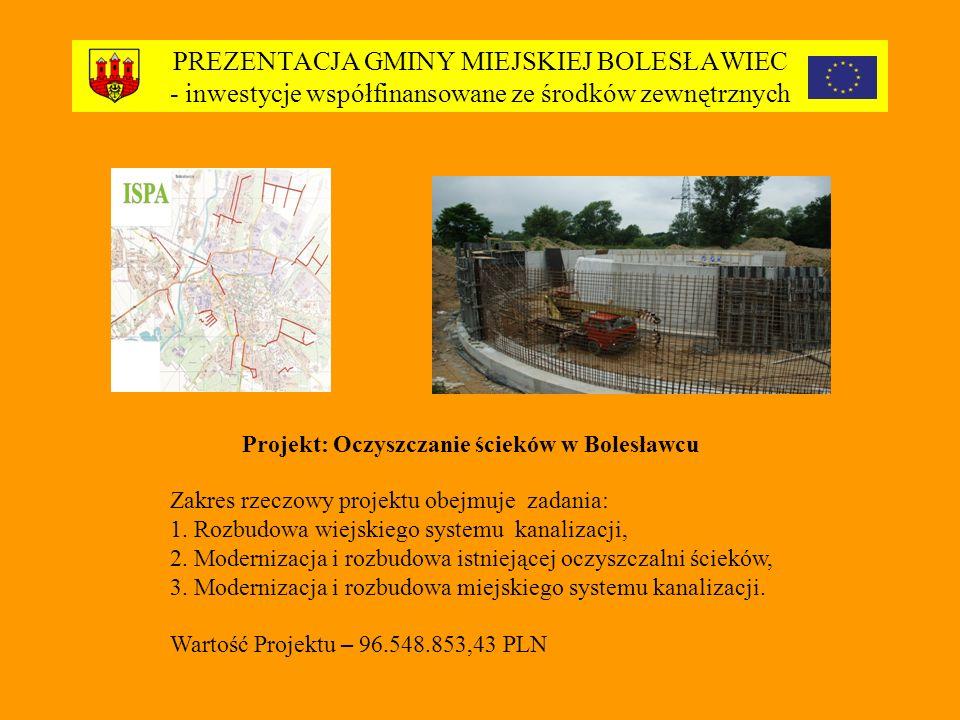CHARAKTERYSTYKA MZGK BOLESLAWIEC Miejski Zakład Gospodarki Komunalnej Sp.