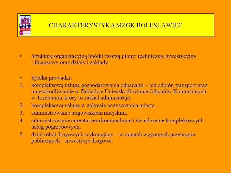 CHARAKTERYSTYKA MZGK BOLESŁAWIEC - dni otwarte Pokaz specjalistycznego sprzętu komunalnego MZGK.
