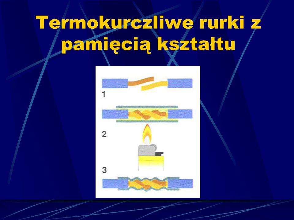 Termokurczliwe rurki z pamięcią kształtu