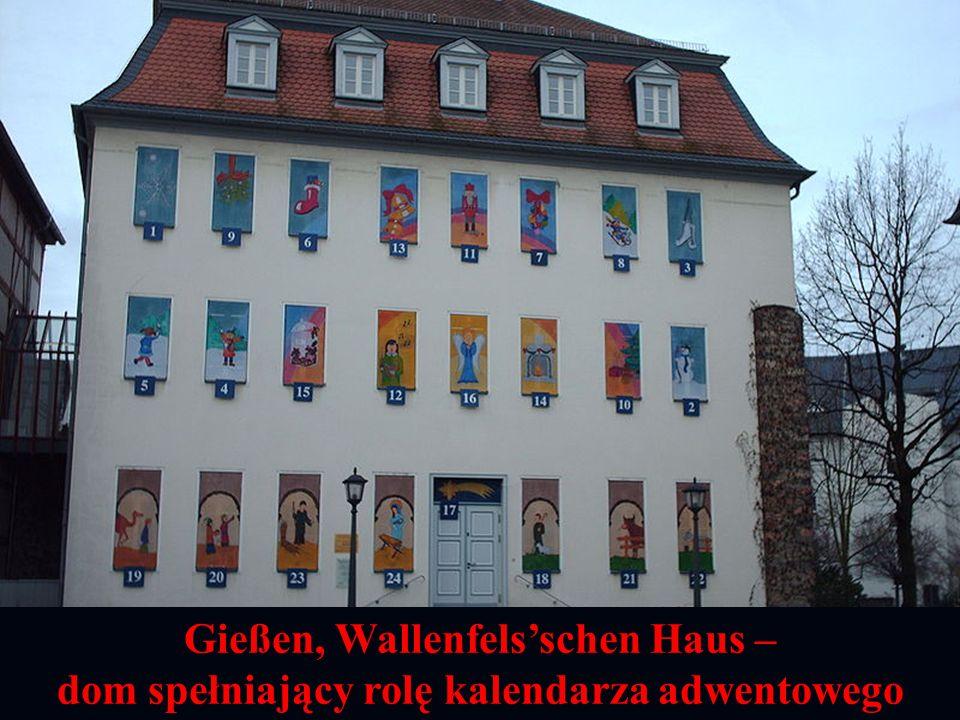 Gießen, Wallenfelsschen Haus – dom spełniający rolę kalendarza adwentowego