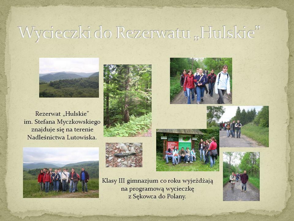 Rezerwat Hulskie im. Stefana Myczkowskiego znajduje się na terenie Nadleśnictwa Lutowiska.