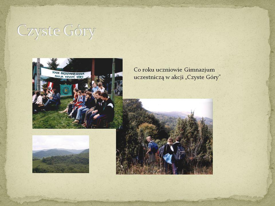 Co roku uczniowie Gimnazjum uczestniczą w akcji Czyste Góry