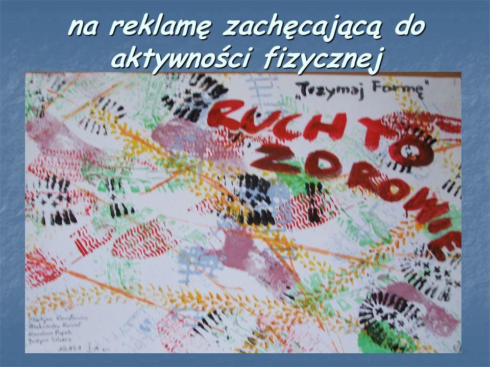 na plakat- Recepta na zdrowie Nagrody indywidualne i dla klas za udział w konkursach