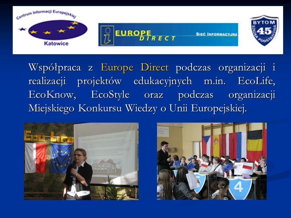 7.1 Współpraca z Europe Direct podczas organizacji i realizacji projektów edukacyjnych m.in.