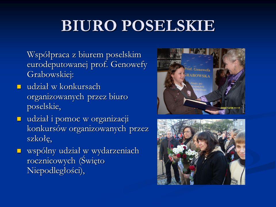 BIURO POSELSKIE Współpraca z biurem poselskim eurodeputowanej prof.