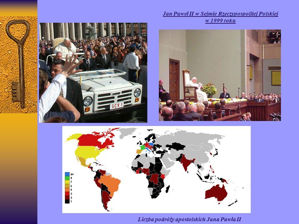 Liczba podróży apostolskich Jana Pawła II Jan Paweł II w Sejmie Rzeczypospolitej Polskiej w 1999 roku