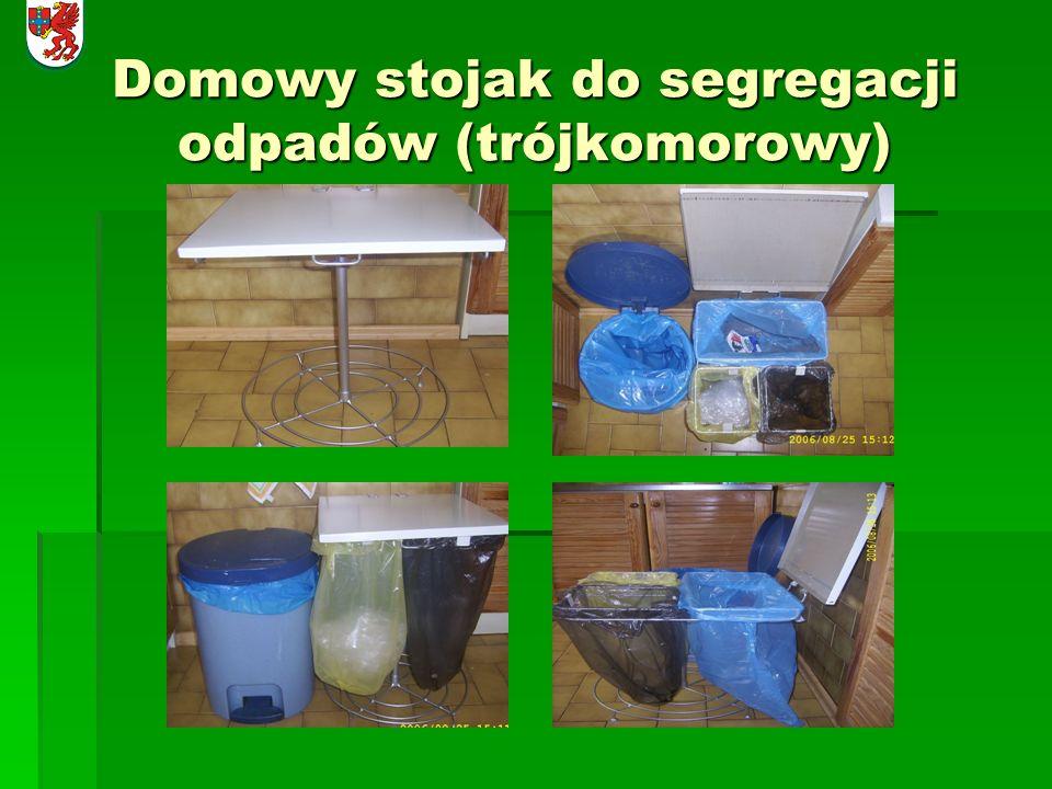 Domowy stojak do segregacji odpadów (trójkomorowy)