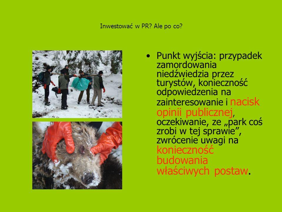 Inwestować w PR? Ale po co? Punkt wyjścia: przypadek zamordowania niedźwiedzia przez turystów, konieczność odpowiedzenia na zainteresowanie i nacisk o