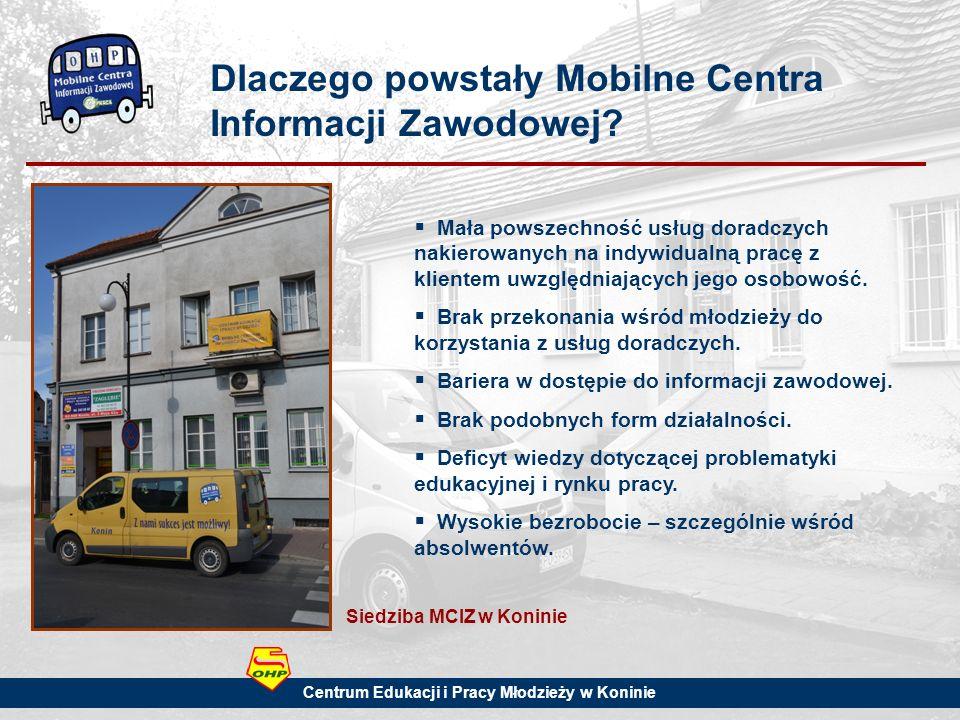 Dlaczego powstały Mobilne Centra Informacji Zawodowej.