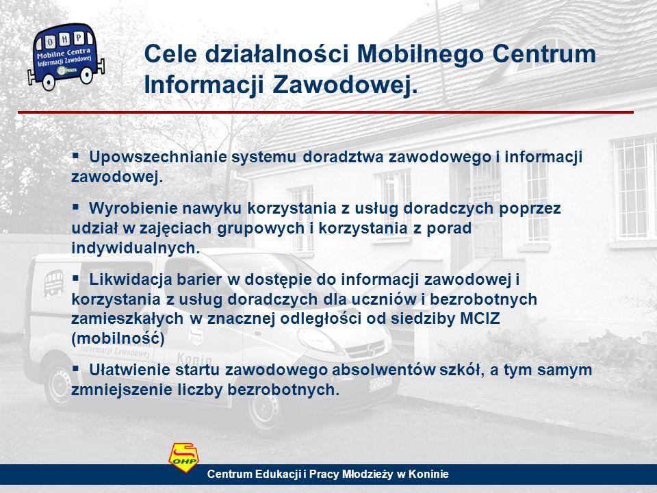 Cele działalności Mobilnego Centrum Informacji Zawodowej.