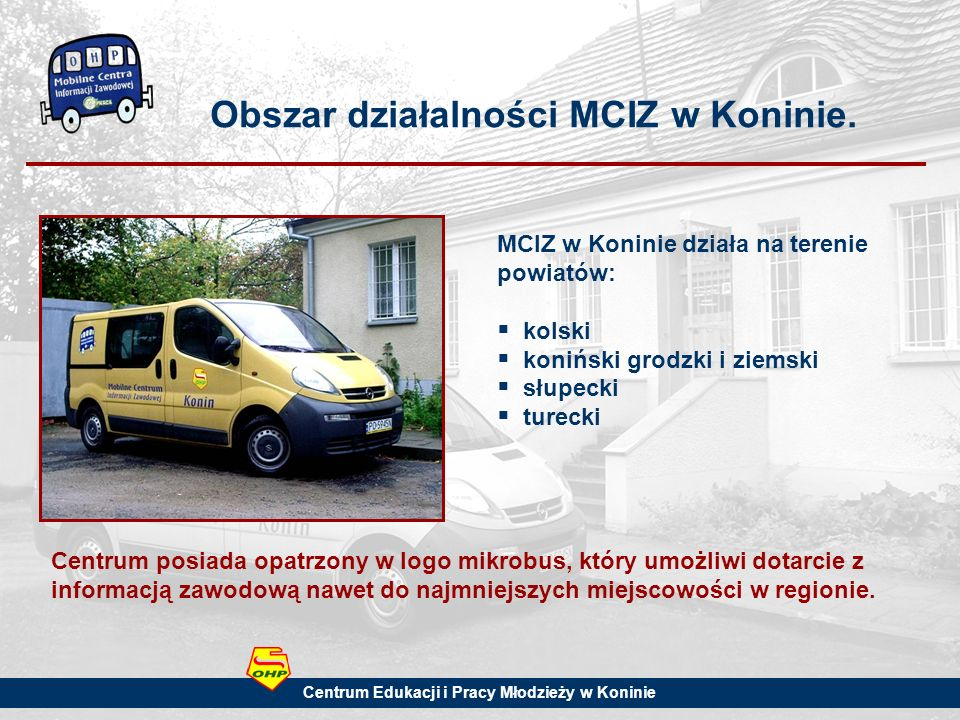 Obszar działalności MCIZ w Koninie.