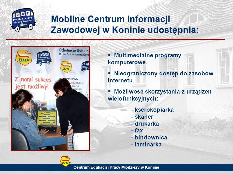 Mobilne Centrum Informacji Zawodowej w Koninie udostępnia: Multimedialne programy komputerowe.