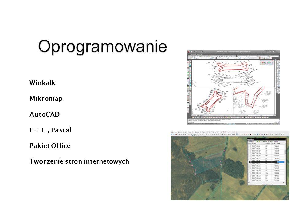 Winkalk Mikromap AutoCAD C++, Pascal Pakiet Office Tworzenie stron internetowych