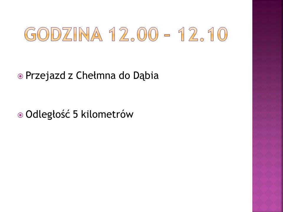 Przejazd z Chełmna do Dąbia Odległość 5 kilometrów