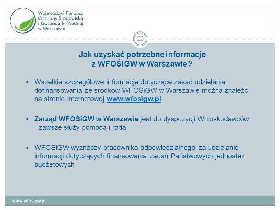 Jak uzyskać potrzebne informacje z WFOŚiGW w Warszawie .