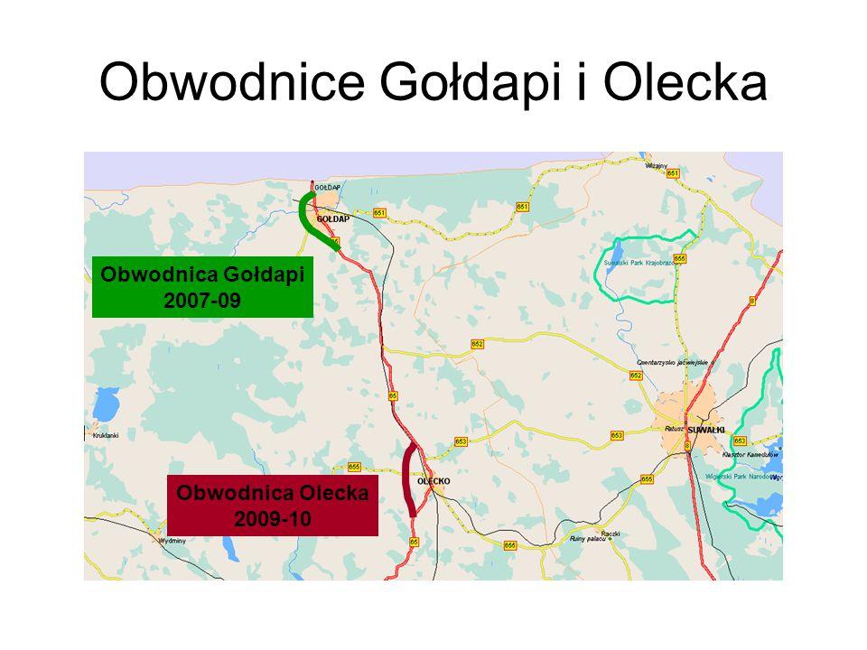 Obwodnice Gołdapi i Olecka Obwodnica Olecka 2009-10 Obwodnica Gołdapi 2007-09