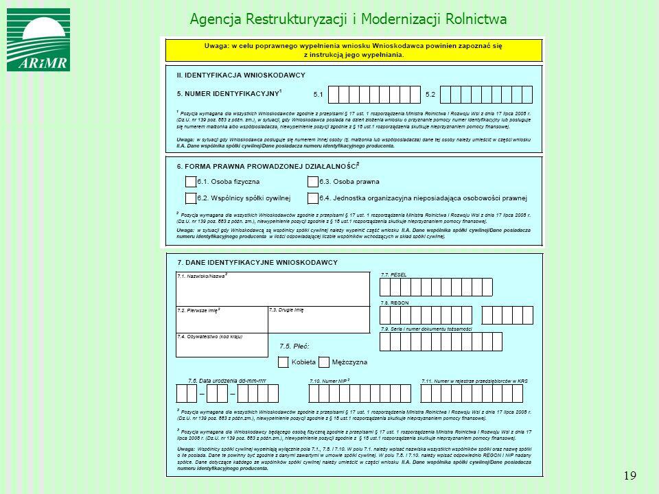 Agencja Restrukturyzacji i Modernizacji Rolnictwa 19