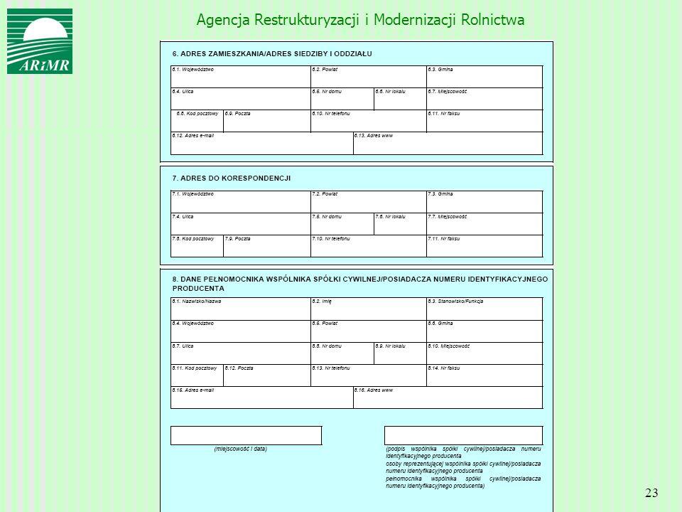 Agencja Restrukturyzacji i Modernizacji Rolnictwa 23