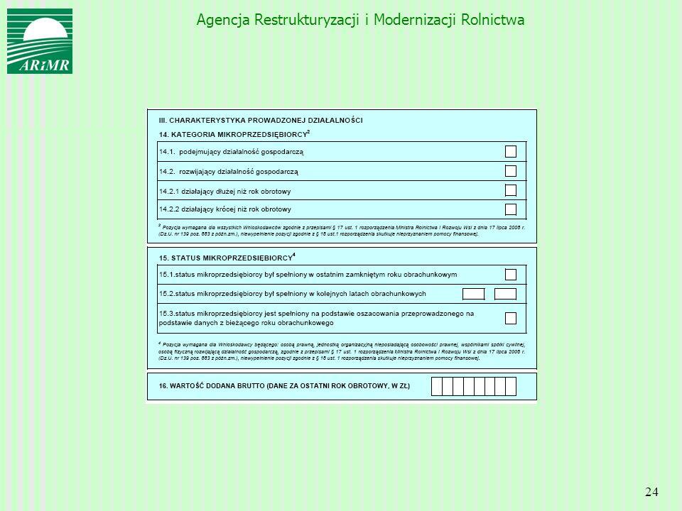 Agencja Restrukturyzacji i Modernizacji Rolnictwa 24