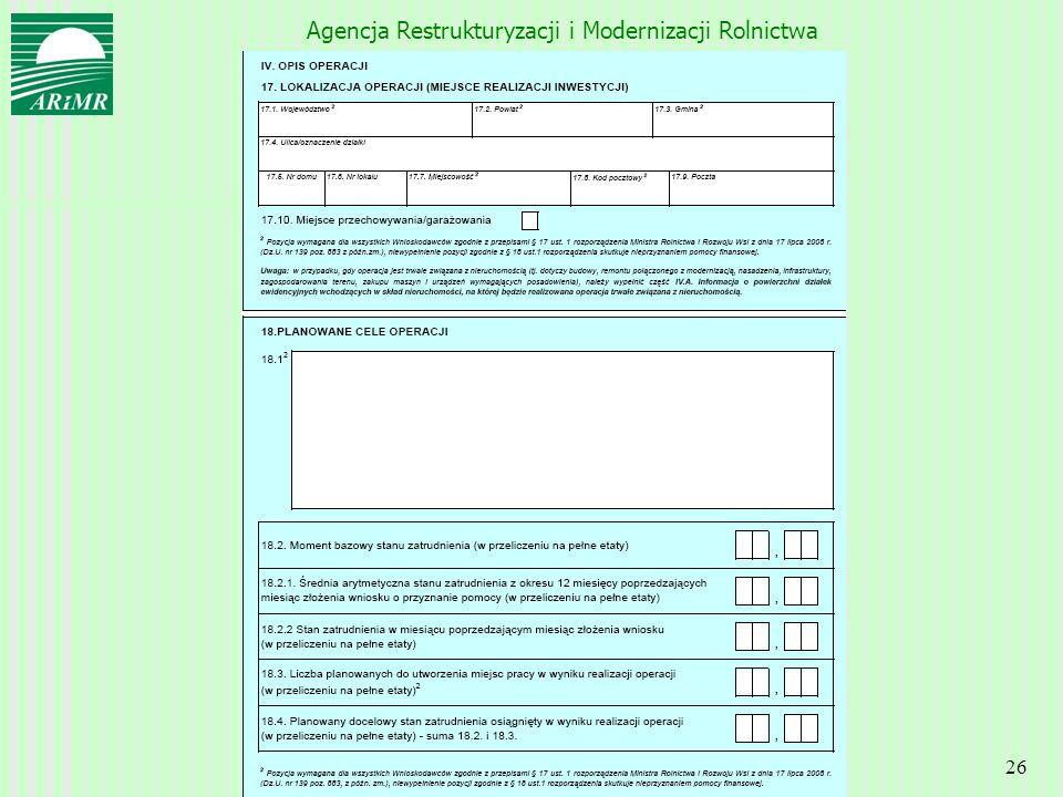 Agencja Restrukturyzacji i Modernizacji Rolnictwa 26