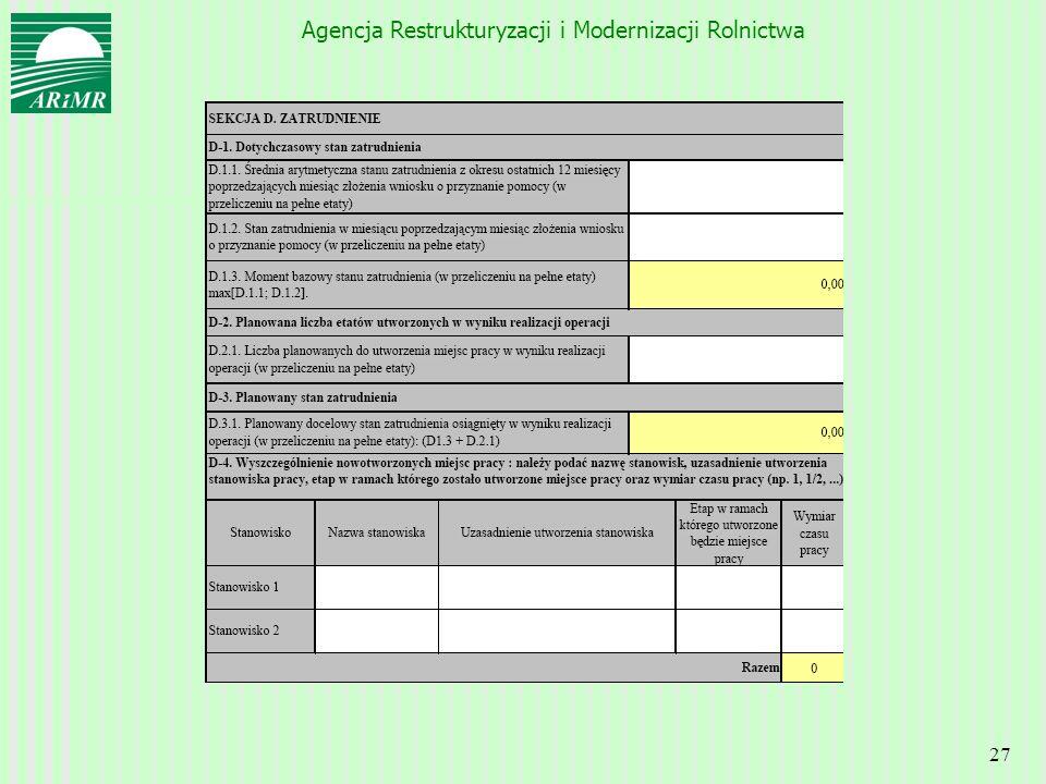 Agencja Restrukturyzacji i Modernizacji Rolnictwa 27