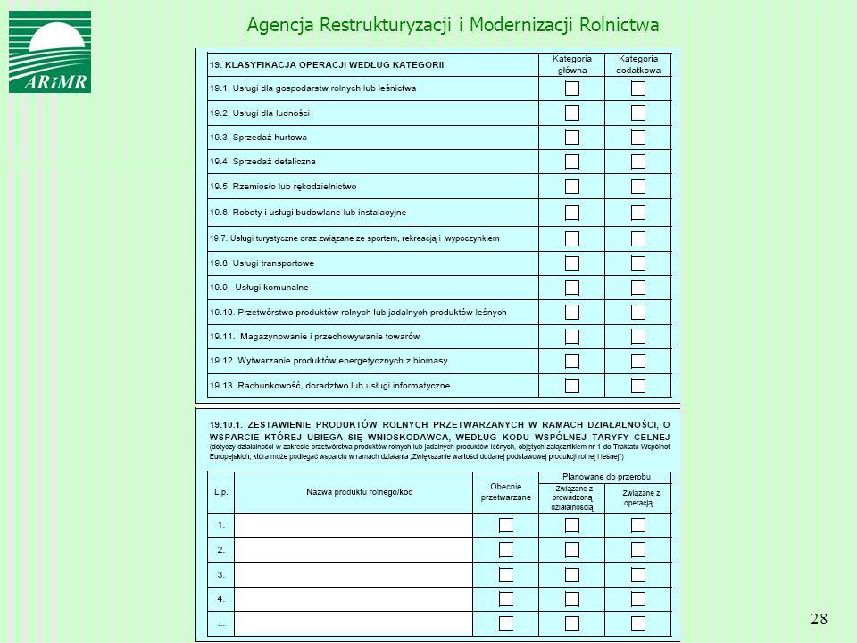 Agencja Restrukturyzacji i Modernizacji Rolnictwa 28