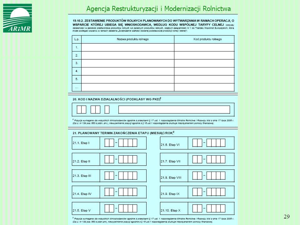 Agencja Restrukturyzacji i Modernizacji Rolnictwa 29