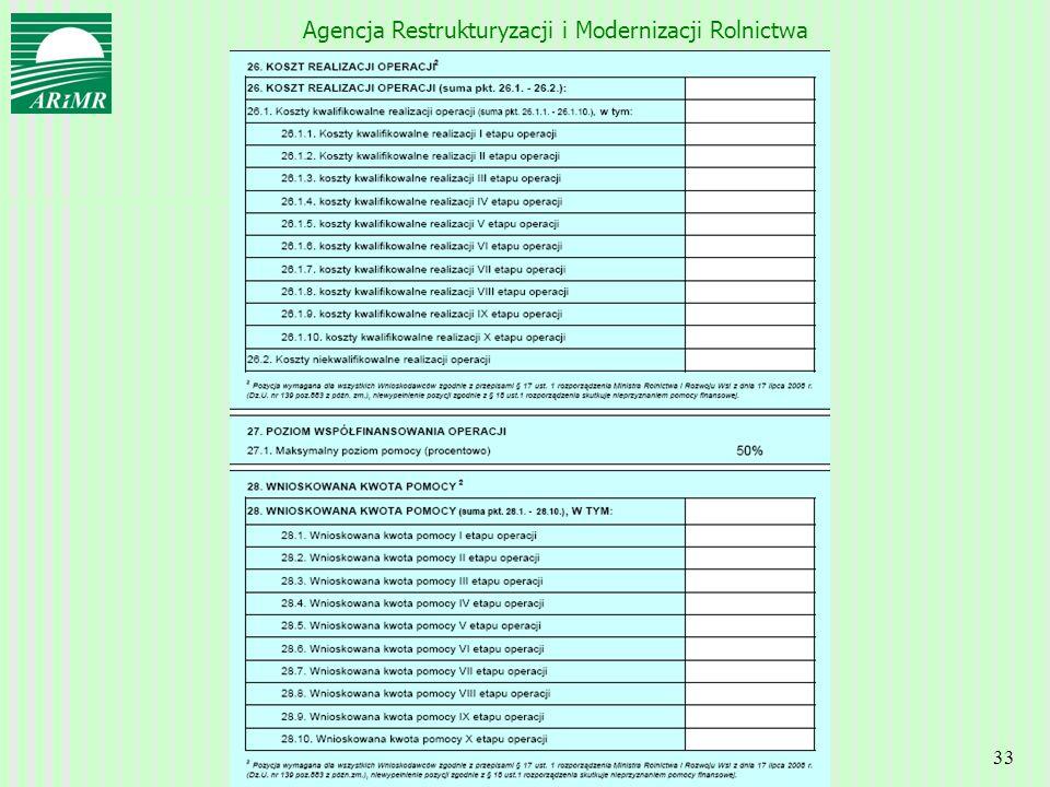 Agencja Restrukturyzacji i Modernizacji Rolnictwa 33