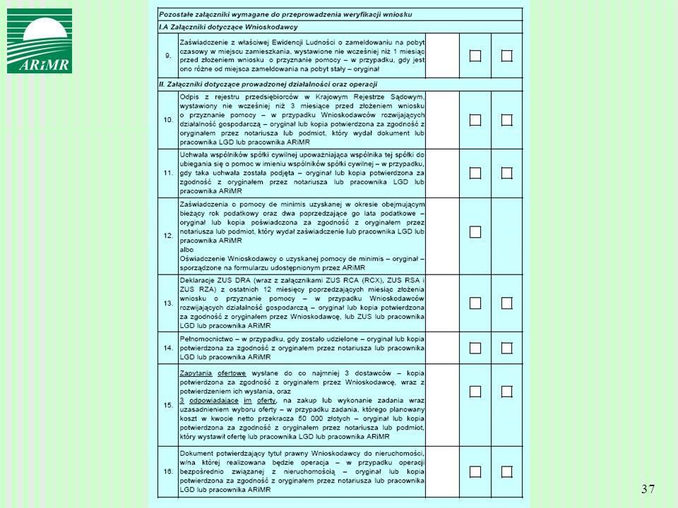 Agencja Restrukturyzacji i Modernizacji Rolnictwa 37