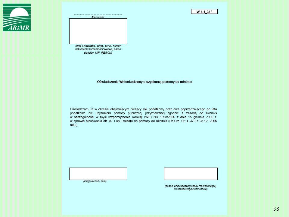 Agencja Restrukturyzacji i Modernizacji Rolnictwa 38