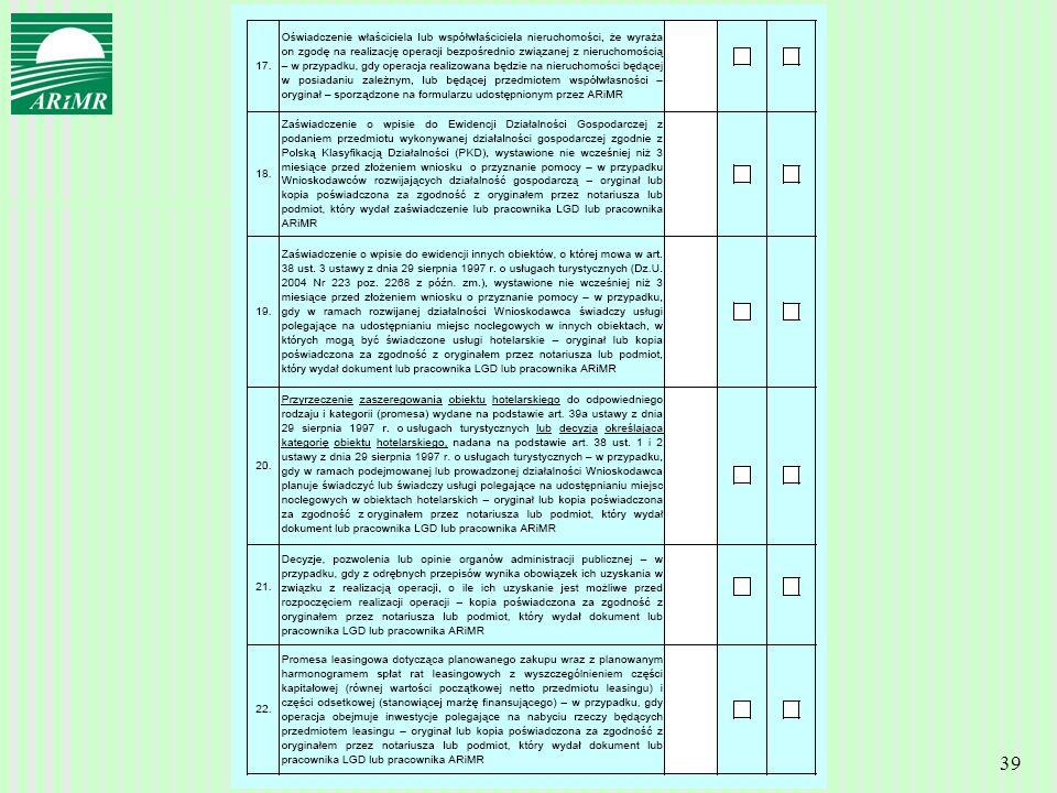 Agencja Restrukturyzacji i Modernizacji Rolnictwa 39