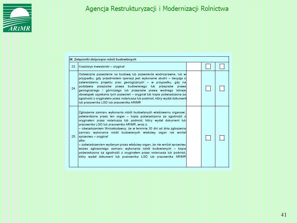 Agencja Restrukturyzacji i Modernizacji Rolnictwa 41