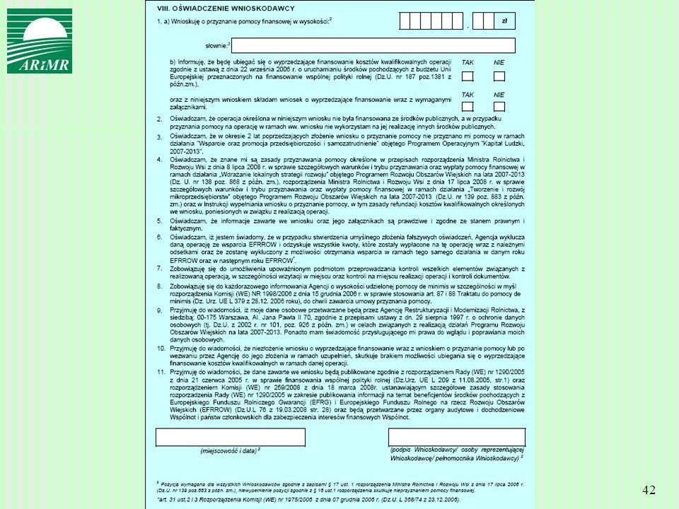 Agencja Restrukturyzacji i Modernizacji Rolnictwa 42