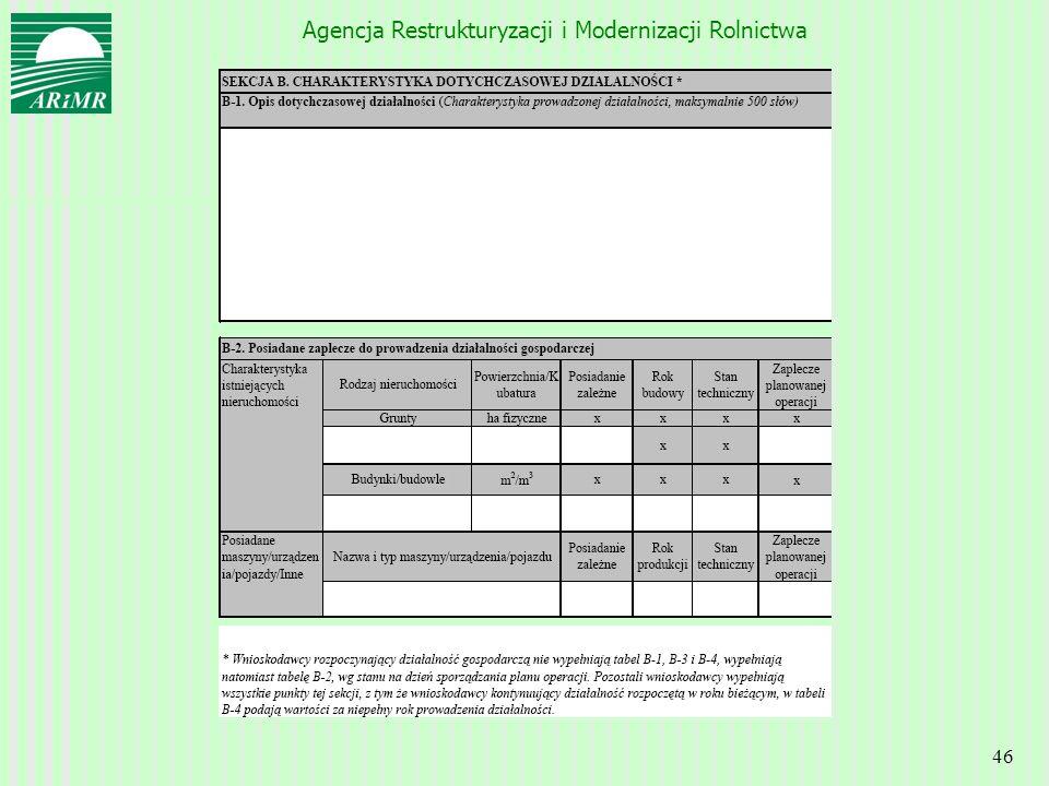 Agencja Restrukturyzacji i Modernizacji Rolnictwa 46