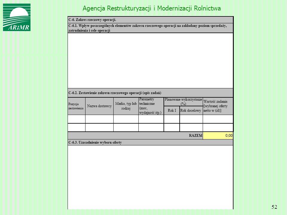 Agencja Restrukturyzacji i Modernizacji Rolnictwa 52