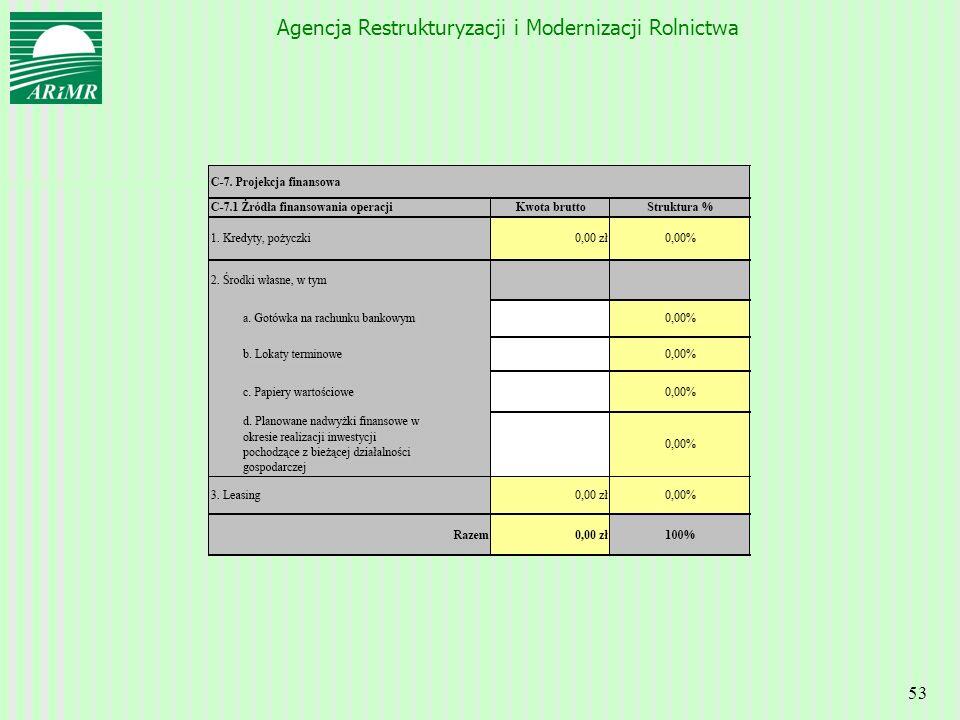 Agencja Restrukturyzacji i Modernizacji Rolnictwa 53
